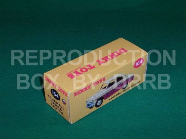 Dinky #164 Vauxhall Cresta Saloon - Reproduction Box ( 2-tone, Red and Cream finish )
